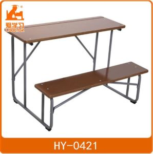School Furniture Double Wooden Tables and Chairs pictures & photos