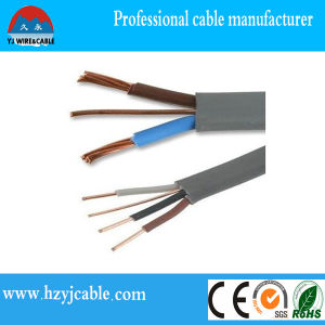 Cost of Electrical BS Standard Grey/Black Sheath Flexible Flat Cable pictures & photos