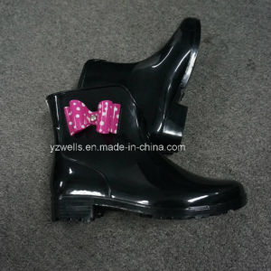 Women Ankle Rain Boots with Bowknots