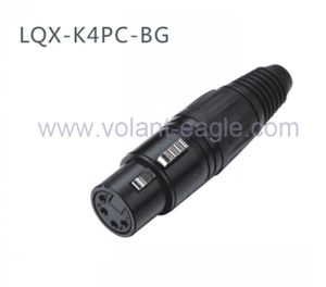 Audio Connectors Gold 4-Pin Female XLR Connector with RoHS pictures & photos