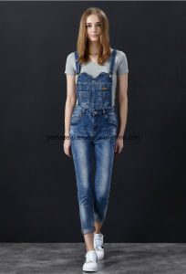 High Quality Classic Skinny Denim Ladies Jeans Overall Women Pants pictures & photos