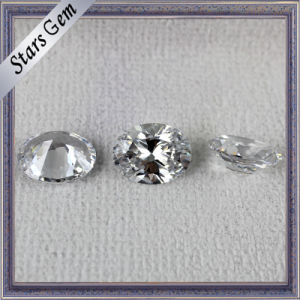 Popular Hot Sale Oval Shape White Shining CZ for Jewelry pictures & photos