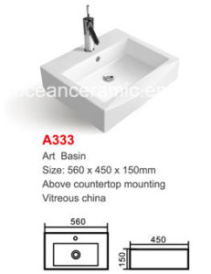 Rectangular Ceramic Bathroom Basin (No. A333) pictures & photos