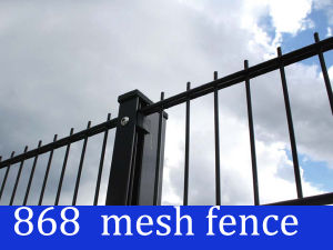 Black Color 868 Welded Mesh Panel Fence pictures & photos