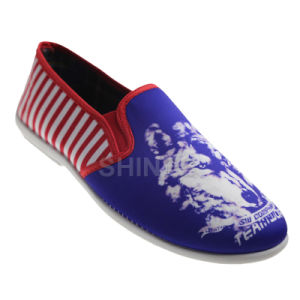 Print Lyric Injection Slip on Shoes for Men