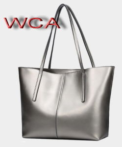 Leather Women Tote Bags, Wca Audited Factory (T6550) pictures & photos
