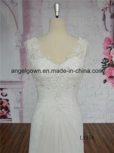 Elegant Low Back A-Line Lace Wedding Dress 2016 pictures & photos