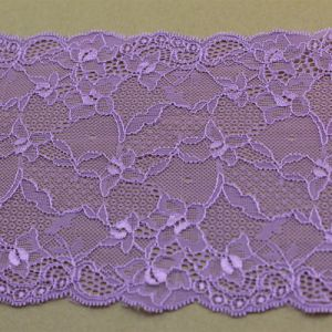 Embroidery Nylon Stretch Lace Elastic Trims for Garment / Lingeries