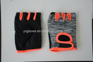 Safety Glove-Half Finger Glove-Cycling Glove- Bicycle Glove-Sport Glove-PVC Dotted Glove pictures & photos