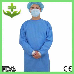 Xiantao Hubei MEK Disposable Nonwoven Fabric FDA Ce ISO Surgical Gown pictures & photos