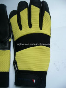 Black Leather Glove-Cow Grain Leather Glove-Work Glove-Industrial Glove-Labor Glove pictures & photos