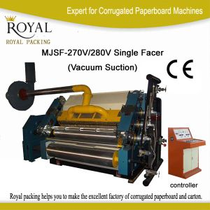 Vacuum Suction Single Facer Machine Mjsf-270V/280V pictures & photos