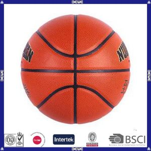 Wholesale Rubber Material Promotional Solid Color Customized Logo Basketball Balls pictures & photos