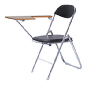 Leather Design Office Folding Chair with Witing Tablet ZD20 pictures & photos