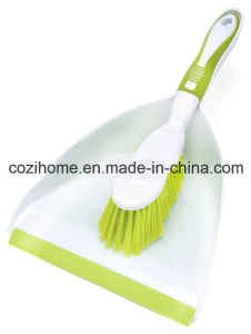 High Quality Plsastic Dustpan with Brush (3422) pictures & photos