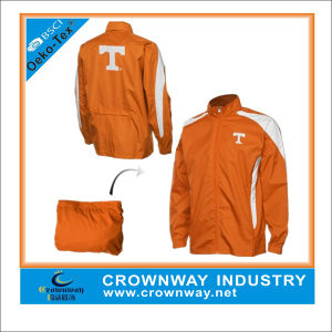 Full Zip Orange Packaway Jacket with Hidden Hood pictures & photos