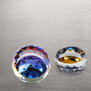 Vibrant Luminary Crystal Collection Round Paperweight of Desk Accessories (#72985) pictures & photos