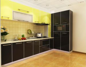 New Design High Glossy Home Furniture Kitchen Cabinet Yb1710578 pictures & photos
