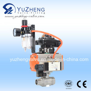 Pneumatic Actuator 3PC Ball Valve Manufacturer pictures & photos