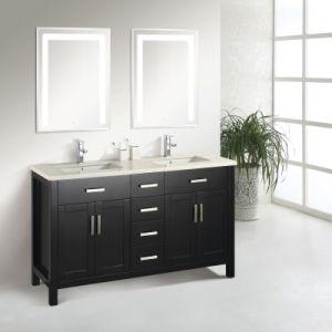 Contemporary Design Double Sink Bathroom Cabinet