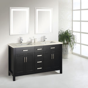 Contemporary Design Double Sink Bathroom Cabinet pictures & photos