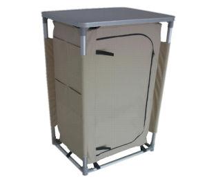 Aluminum Quality Folding Portable Storage 3 Shelves Cupboard (QRJ-G-001) pictures & photos