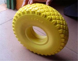 10inch 3.00-4 Flat Free PU Foam Wheel PU Wheel with Roller Bearing Plastic Rim