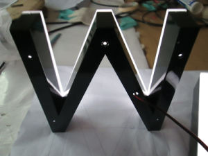 LED Front Illuminated Fabricated Halo Resin Epoxy Acrylic Channel Letters pictures & photos
