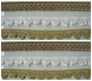 Hand Knit Crochet Velvet Lace Tringe Trimmed Cushion Covers pictures & photos
