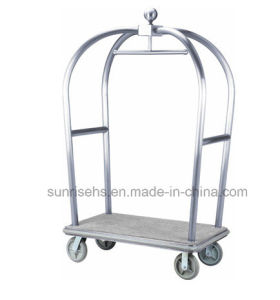 Brushed Finish Heavy Duty Hotel Trolley pictures & photos