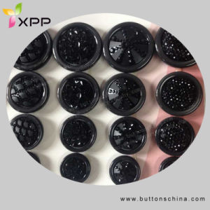 Black Color Fashion Polyest Coat Button pictures & photos
