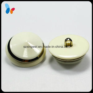 White Polyester Resin Shank Button for High-End Coat pictures & photos