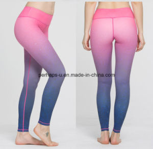 High Quality Quickly-Dry Colorful Women Gym Pants Fitness Leggings pictures & photos