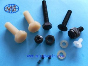 Black and White Plastic Bolt, Nut with ISO SGS