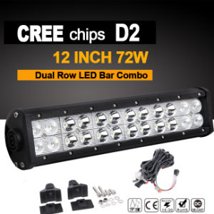 CREE LED Work Light Bar Dual Row (12inch, Flood Beam, IP68 Waterproof) pictures & photos