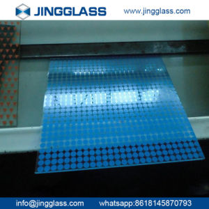 Polished Edge Tempered Ceramic Frit Silk-Screen Printed Colored Glass pictures & photos