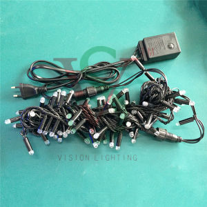 Balck Wire Flashing LED String Lights for Christmas Tree Decorations pictures & photos