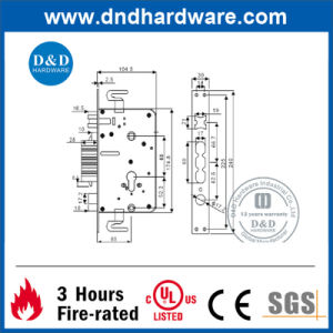 Stainless Steel Door Hardware Bolt Mortise Lock with UL Listed (DDML022) pictures & photos