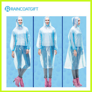 Unisex Free Size Disposable Clear PE Rain Ponchos pictures & photos
