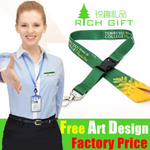 Custom Printed Neck Lanyard with Plastic Safety Breakaway Buckle pictures & photos