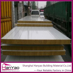 Fireproof Steel Rock Wool Sandwich Panel for Wall pictures & photos