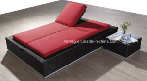 High Quality Top Using Project Outdoor Garden Idea Furniture Double Sunlounge (YT167-1) pictures & photos