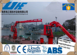 Knuckle Telescopic Boom Jib Crane on Ship Deck pictures & photos