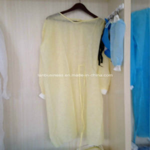 Ly Nonwoven Isolation Gown with Knitted Cuffs pictures & photos