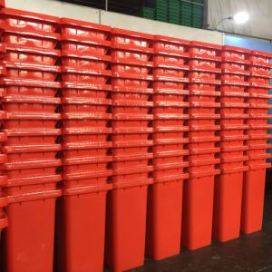 120L Dustbin Red Color pictures & photos