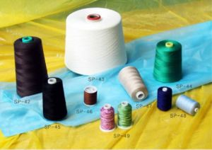 Cotton Sewing Thread with Embroidery pictures & photos