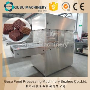 Gusu 800mm Wildth Chocolate Enrober Machine for Wafer pictures & photos