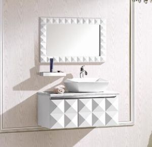 Modern White Solid Wood Bathroom Cabinet pictures & photos
