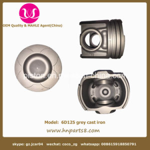 Komatsu 6D125 Grey Cast Iron Piston 6151-31-2710 pictures & photos