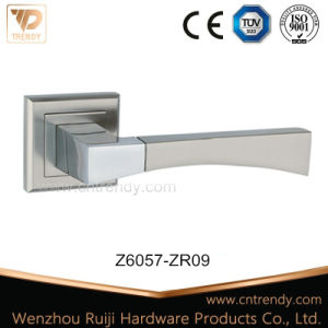 Zamak Mortise Door Handle on Square Rosette (Z6057-ZR09) pictures & photos